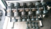 Dumbbells and rack 15-50 York round head Tampa, 33607