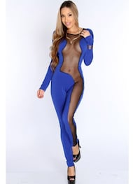 Womens Blue or Red bodysuit jumpsuit