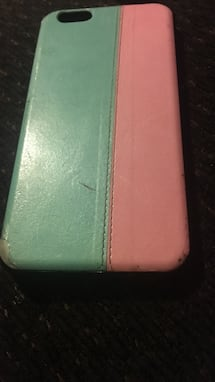 green and pink iPhone case