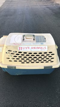 Pet mate live animal crate used to transport dogs or cats on planes or long trips. Pell City, 35128
