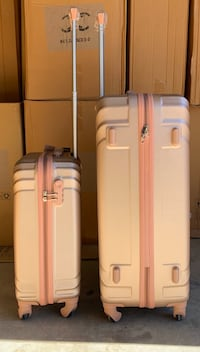 Rose Gold 2pcs Carry-On Luggage Suitcases  Toronto, M3J 2W6