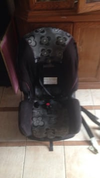 black and red car seat carrier