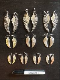 10 pairs of Wing Earings Arlington, 22204