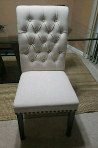 Cream Upholstered Side Chair Set of 2 Alexandria
