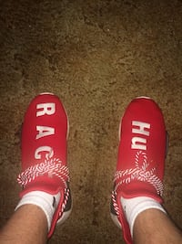 Red human race nmd
