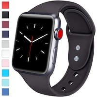 black Apple Watch with black sports band New York, 10002
