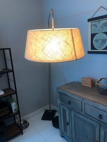 Arched Floor Lamp + Philips Hue Light