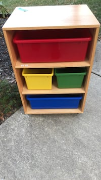 white, red, and blue plastic toy organizer Mount Airy, 21771