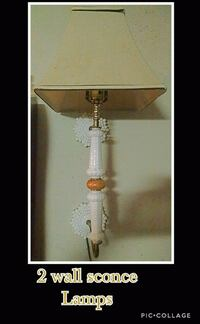 white and brown table lamp Rock Spring