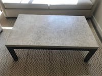 Like-new Crate & Barrel Travertine top coffee table null