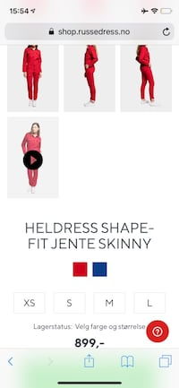 Blå Russedress heldress shape fit skinny jente Small Asker, 1387