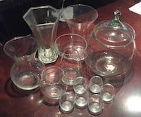 Clear glass vases Vaughan, L6A 1H2