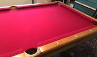 red and brown pool table Las Vegas