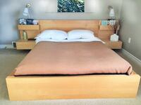 IKEA MALM Double Size Bed & Side tables ( needs to Montreal