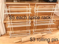 Spice racks and rolling pin  Falls Church, 22043