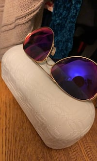 Authentic OAKLEY Caveats with gold frame, purple and pink lenses Bolton, L7E 1S4