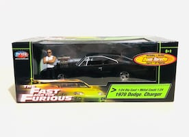 Rare! The Fast and the Furious 1970 Dodge Charger 1:24 Die Cast
