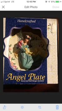 Handcrafted 3D East West Distributing Co. Angel Plate RARE