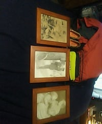 three assorted color photo frames Clarksville, 37042