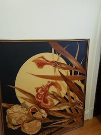 brown wooden frame painting wall decor