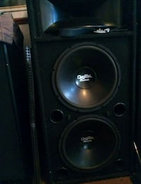 black and gray subwoofer speaker Garden Grove, 92841