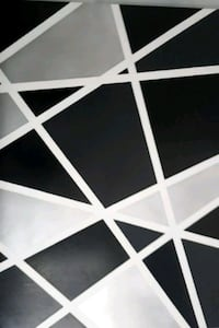 5ftx4ft black and silver geometric painting  Vaughan, L4J 5S3