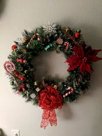 green and red Christmas wreath Kansas City, 66106