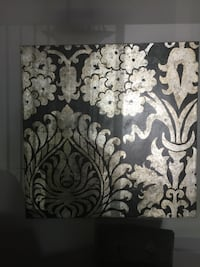 white and black floral wall canvas Mt. Juliet, 37122