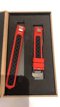 Red and black watch strap with box Bowling Green, 42103