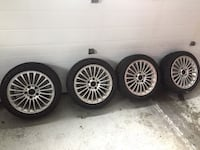 BMW four gray multispoke vehicle wheels and tires 886 km