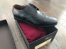 NEW >>> ALLEN EDMONDS HINSDALE WINGTIP DRESS SHOES BLACK 10 D