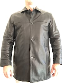 Men's Black leather jacket Marc New York Large Leesburg, 20175