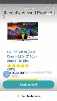 "gray LG 65"" flat screen TV screenshot"