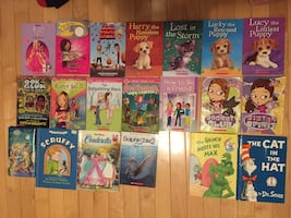 Assorted youth books.