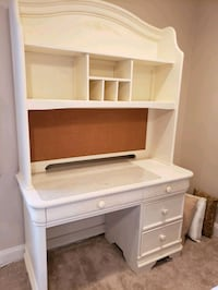 SOLID WOOD DESK AND HUTCH