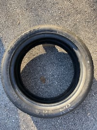 Black and gray vehicle tire