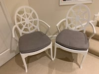 Set of wood & cane guest chairs Bethesda, 20816