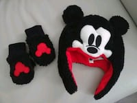 Mickey Mouse Hat/Gloves Set NEW! Vaughan