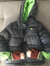 Boys Old Navy puffer Jacket with mittens - 3T Columbia, 21044
