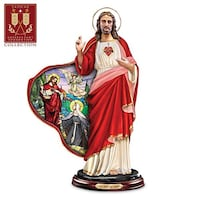 Bradford Exchange Jesus Sacred Heart Sculpture Stained Glass LE #A0430 Floral City, 34436