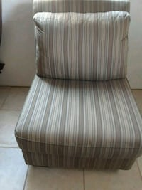 brown and white stripe padded chair Tulare, 93274