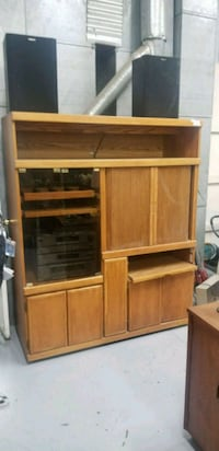 brown wooden cabinet with shelf Visalia, 93291