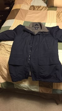Land's end men's small gray and black zip-up jacket. Fairfax, 22032