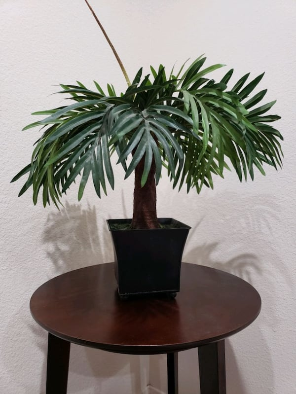 "Palm Tree Artificial/ Fake With Vase 15"" H 3"