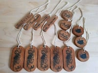 Wooden Gift Tags - attach to gift basket Airdrie, T4B 0E4