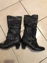 Girls black heel boots size 13 Metairie, 70003
