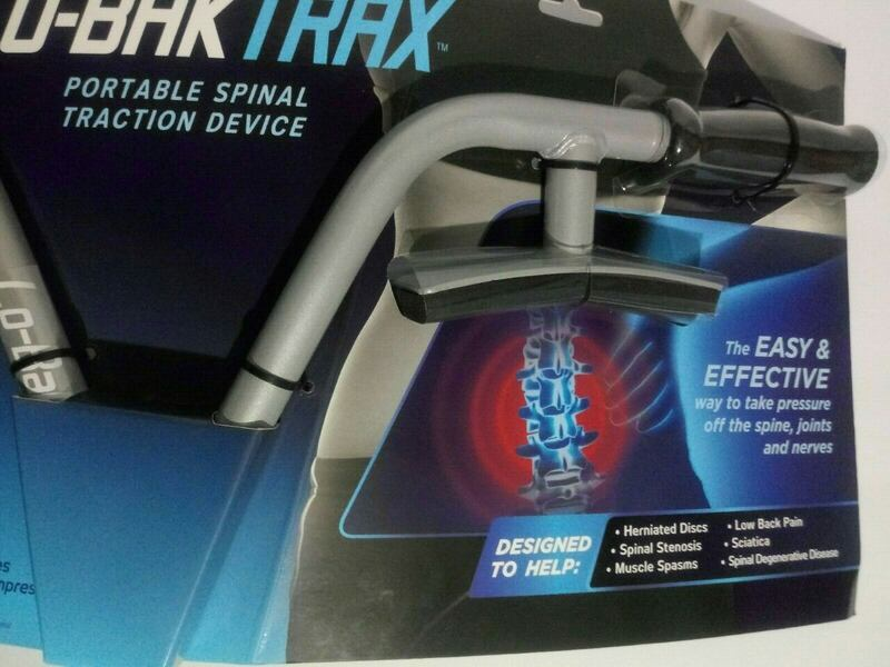 NEW Lo-Bak Trax portable Spinal Traction Device & Bonus Stretches DVD 3