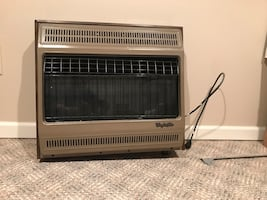 Gas heater wall mounted