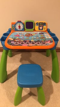 Blue, green, and yellow activity table Canton, 44718