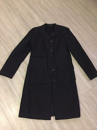 Jacob black notch-lapel 5-button coat(xs)